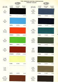 amc javelin paint codes