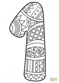 number 1 zentangle coloring page free printable coloring pages