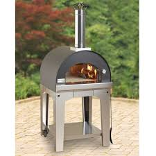 the rapid heating wood burning pizza oven hammacher schlemmer