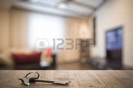 Wooden Table Ls For Living Room On Wooden Table In The Living Room Stock Photo Picture And
