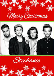 one direction cards personalised one direction christmas card