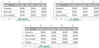 consolidate in excel merge multiple sheets into one