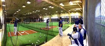 spring training mlb batting cage panoramic view of mariners
