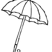 big umbrella coloring kids drawing coloring pages