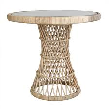 Rattan Side Table Hk Living Rotan Coffee Table With Glass Top Living And Co
