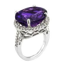 amethyst diamond engagement ring 17 28 deep purple amethyst u0026 diamond ring