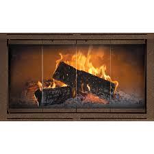 welded steel frame heritage z zero clearance fireplace door