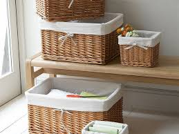 Wicker Basket Bathroom Storage Basket Wicker Bathroom Furniture Designs Ideas And Decors