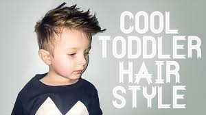 toddler boy hairstyle and haircut youtube