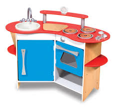 Pretend Kitchen Furniture by Melissa U0026 Doug Cook U0027s Corner Wooden Kitchen Pretend Playset Toys