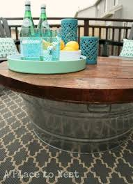 diy outdoor coffee table outdoor coffee table with metal bucket base