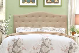 Tufted Upholstered Headboard Ivory Fabric Tufted Upholstered Headboard Caravana Furniture