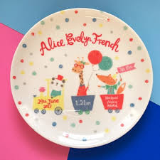 baby birth plates personalised baby birth plate ethel and co
