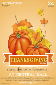 thanksgiving event flyer template postermywall