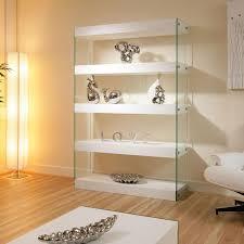 modern glass buffet cabinet display cabinet shelving unit shelves white oak glass modern