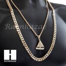 necklace diamond ebay images Men iced out lil yachty chain diamond cut 30 quot cuban link chain jpg
