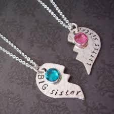 best friends heart necklace images Big little sister best friends mother daughter broken heart jpg