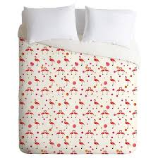 pink flamingo lightweight duvet cover deny designs target