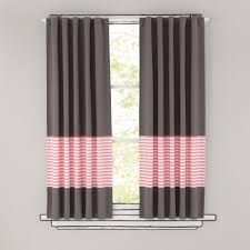 Pink Curtains For Nursery by Kids Curtains Pink Stripe Grey Window Curtains The Land Of Nod