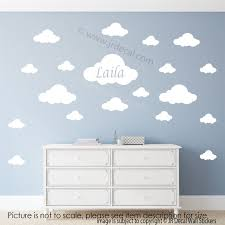 personalised name initial monogram elephant wall decals nursery cloud wall stickers your kid s personalized name