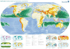 Sahara Desert On World Map by World Map Of Natural Hazards Earthquakes Cyclones Volcanoes
