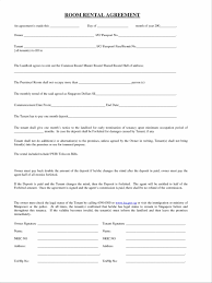 free rental lease agreement download template sample room lease agreement u letter cpa resume room room