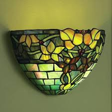 battery powered outdoor wall lights art glass wall sconce battery operated with remote control jewel art