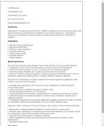 resume specialist professional environmental specialist templates to showcase your