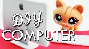 miniature apple imac computer tutorial diy for lps and dolls