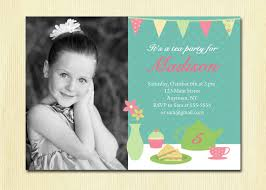 Girls Tea Party Invitation Birthday Diy Printable