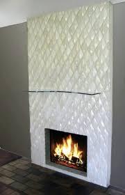 modern fireplace glass rocks gas contemporary screen new modern