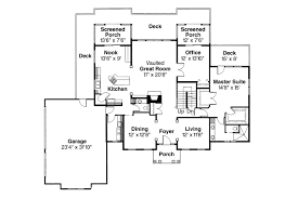 House Plans With Vaulted Great Room by Colonial House Plans Cobleskill 10 356 Associated Designs