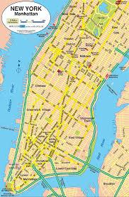 New York On Map Manhattan Stadtplan New York Karte Map