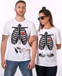 maternity twins shirts halloween skeleton shirts matching couples