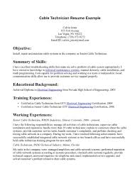 Sample Mechanic Resume Network Technician Resume Examples Resume For Your Job Application
