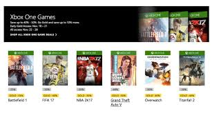 xbox one black friday price xbox live u0027s black friday deals on fifa 17 vs overwatch