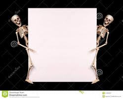 halloween chalkboard background photography skeletons holding empty blank over black halloween stock photo