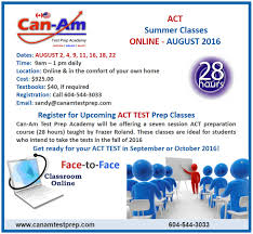weekly classes can am test prep academy