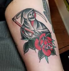 grim reaper by antonio roque at black label tattoo co in