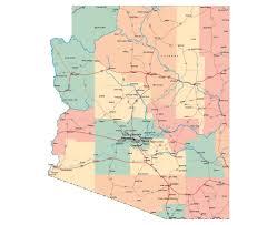 Grand Canyon Arizona Map by Maps Of Arizona State Collection Of Detailed Maps Of Arizona