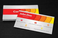 Business Card Design Psd File Free Download Free Modern Red Business Card Design With Abstract 3d Effects