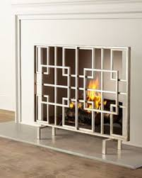 Hand Painted Fireplace Screens - industrial fireplace single screen 42 x 34