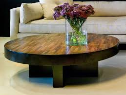 Wood Centerpieces Creative Round Varnished Reclaimed Wood Coffee Table Decor