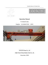 11 eot crane operation manual crane machine