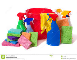 spring cleaning supplies royalty free stock image image 5179456