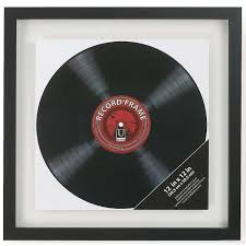 personalized record album the original umbra record black float and sided frame for
