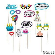 photo props happy birthday photo stick props 14 pcs toys