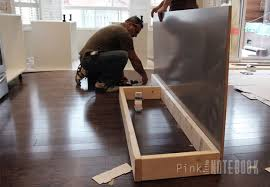 Install Kitchen Base Cabinets Creating An Ikea Kitchen Island Pink Little Notebookpink Little