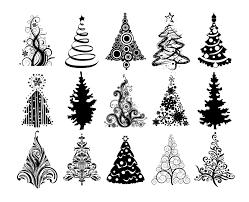 christmas trees vector jpg love the leaves pinterest