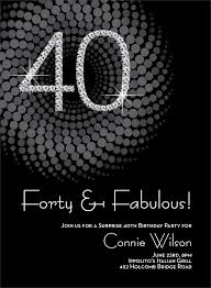 40th birthday party invitations badbrya com